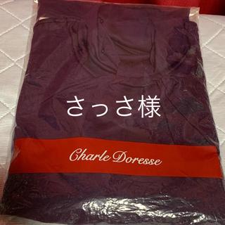 シャルレ(シャルレ)の3L 大きいサイズのカットソー 長袖 パープル🟣紫(Tシャツ(長袖/七分))