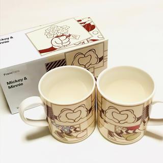 フランフラン(Francfranc)の【未使用】Francfranc ディズニー ミッキー&ミニー ペアマグカップ(グラス/カップ)