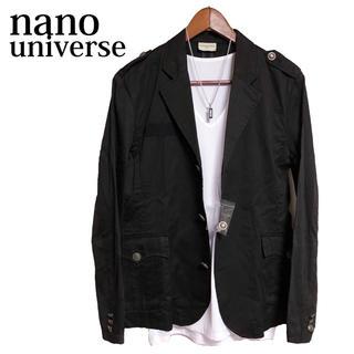 ナノユニバース(nano・universe)のnanouniverse テーラードジャケット 黒 カジュアルジャケット 高級感(テーラードジャケット)