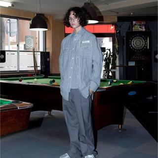 ジョンローレンスサリバン(JOHN LAWRENCE SULLIVAN)のdairiku 長シャツ 19ss ストライプ(シャツ)