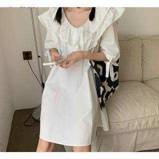 ディーホリック(dholic)の韓国fashion*【2color】フリル ワンピース 114(ミニワンピース)