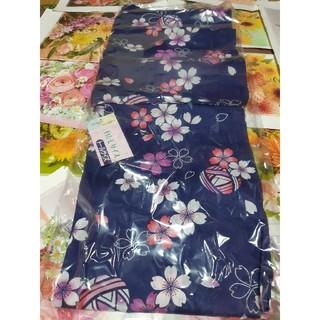 新品、浴衣、変わり織、毬に桜(浴衣)