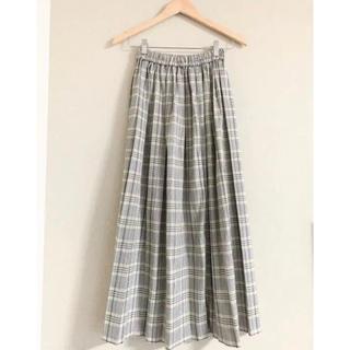 バーニーズニューヨーク(BARNEYS NEW YORK)のチェックプリーツロングスカート(ロングスカート)