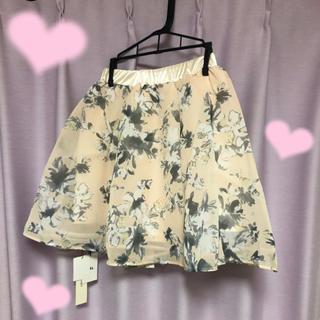 グレイル(GRL)の花柄 ふんわり ミニスカート  定価より1000円引(ひざ丈スカート)