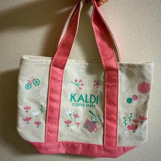 カルディ(KALDI)のカルディ  トートバッグ ピンク(トートバッグ)