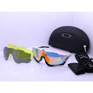 オークリー(Oakley)のOakley Jawbreaker サングラス レンズ3枚つけ ホワイト 偏光(サングラス/メガネ)