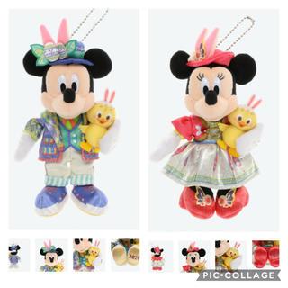 Disney - ディズニー イースター ミッキー ミニー ぬいぐるみバッジ