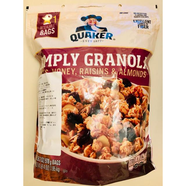 コストコ(コストコ)のQUAKER GRANOLA  クエーカー グラノーラ 1袋 大容量 978g  食品/飲料/酒の健康食品(その他)の商品写真