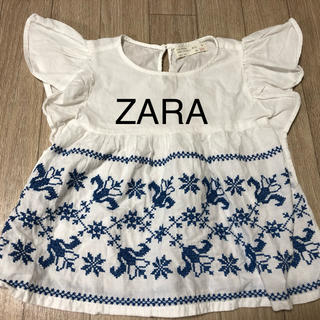 ZARA KIDS - ZARA girls トップス ブラウス 110 刺繍 キッズ 女の子 子供