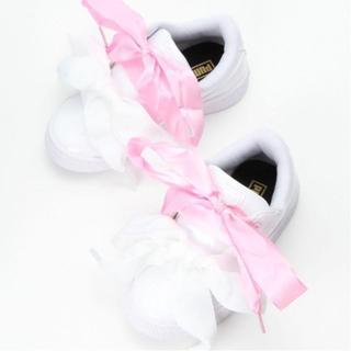 PUMA - 【新品】★PUMA★プーマ★BASKET HEART★リボン★スニーカー★18★