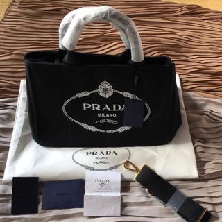 PRADA - アウトレット PRADA カナパ Mサイズ ブラック