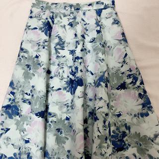 ジャスグリッティー(JUSGLITTY)の花柄フレアスカート(ひざ丈スカート)