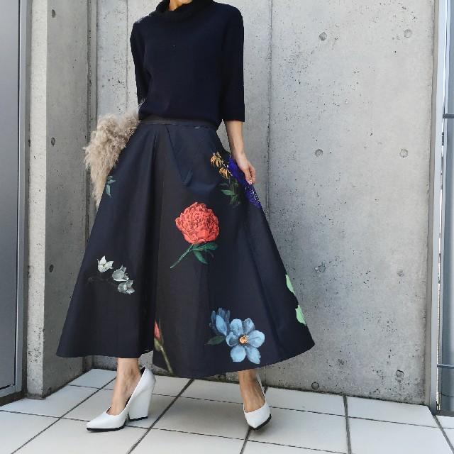 Ameri VINTAGE(アメリヴィンテージ)のアメリヴィンテージ アマンダフレアスカート レディースのスカート(ロングスカート)の商品写真