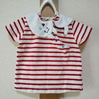 ナルミヤ インターナショナル(NARUMIYA INTERNATIONAL)のbabycheer 80サイズ ネコ衿Tシャツ ベイビーチアー(Tシャツ)