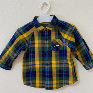 ファミリア(familiar)のfamiliar チェックシャツ サイズ80(シャツ/カットソー)