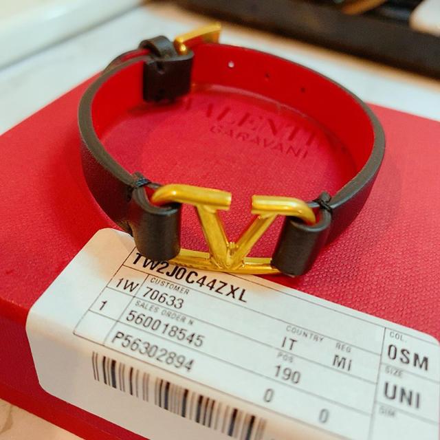 VALENTINO(ヴァレンティノ)の即日発送可能!! VALENTINO ブレスレット カーフスキン レディースのアクセサリー(ブレスレット/バングル)の商品写真