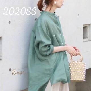 IENA - 【2020SS】IENA LA BOUCLE 麻ローンワークシャツ◆ブルー