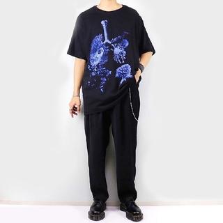 Yohji Yamamoto - syte Yohji 20ss Tシャツ ブルーローズ  ヨウジヤマモト y-3