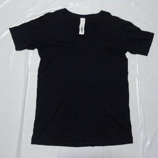 アタッチメント(ATTACHIMENT)の日本製 美シルエット美品◆アタッチメント Vネック半袖Tシャツ濃紺3◆カットソー(Tシャツ/カットソー(半袖/袖なし))