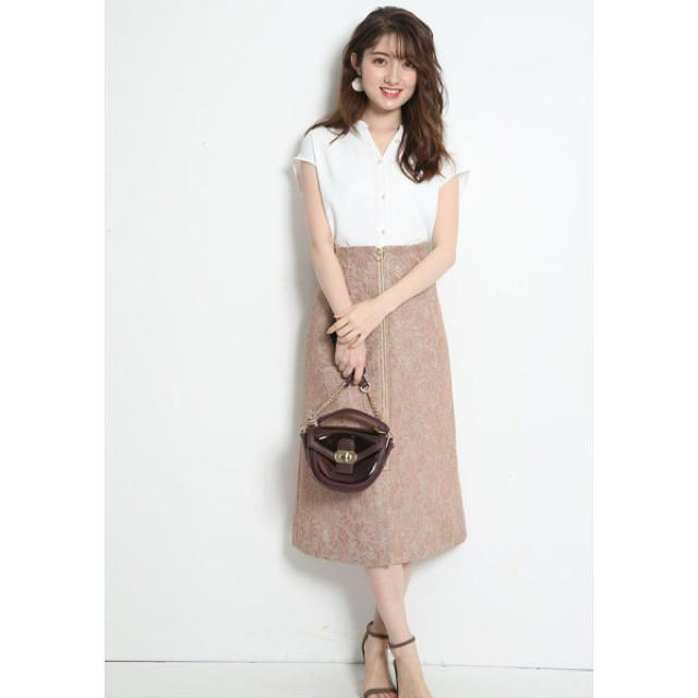 Apuweiser-riche(アプワイザーリッシェ)のApuweiser-riche レースボンディングAラインスカート レディースのスカート(ひざ丈スカート)の商品写真