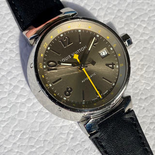LOUIS VUITTON - ルイヴィトン タンブール オートマチック GMT 自動巻き 自動巻 メンズ 時計