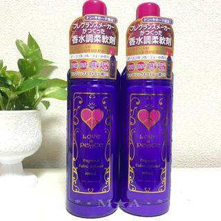 【2本】ラブ&ピース フレグランス ファブリック ソフナー 柔軟剤 フルーティ(洗剤/柔軟剤)