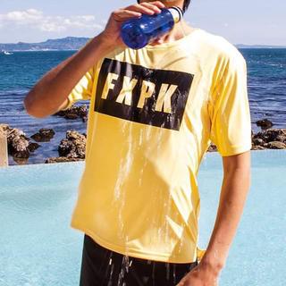 イーブンフロー(evenflo)の新品◼︎FLASH PACKER ナノ撥水Tシャツ 黄色青色2枚セット(Tシャツ/カットソー(半袖/袖なし))
