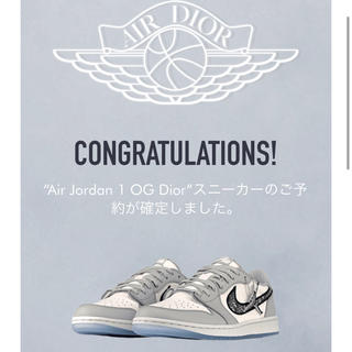 Dior - 未使用品 Dior x Nike Air Jordan 1 og diorlow