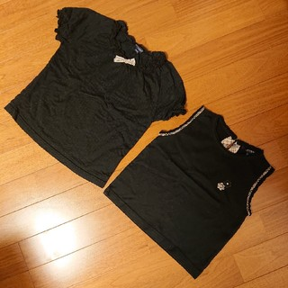 バーバリー(BURBERRY)のバーバリー トップス二点セット 120 黒(Tシャツ/カットソー)