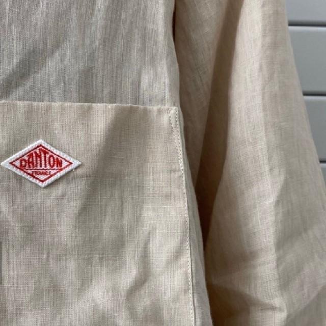 DANTON(ダントン)のDantonリネンロングコート レディースのジャケット/アウター(ロングコート)の商品写真