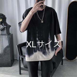 配色プリント プルオーバー オーバーサイズ 韓国 原宿 メンズ Tシャツ