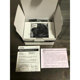 SIGMA - SIGMA シグマ MC-11 マウントコンバーター EF-E ほぼ新品