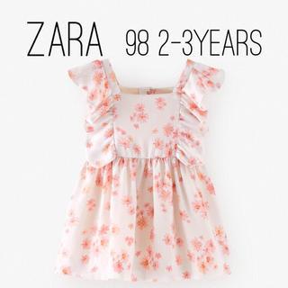 ZARA KIDS - ZARA ザラ キッズ ベビー  花柄 サテン地 ワンピース 98 size