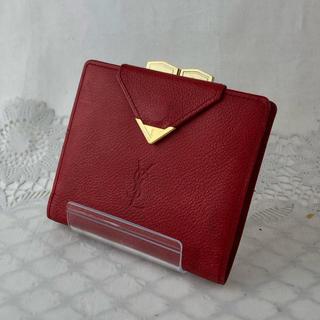 イヴサンローランボーテ(Yves Saint Laurent Beaute)の❤️決算セール❤️サンローラン 財布 折り財布 がま口 サフィアーノ レザー(財布)