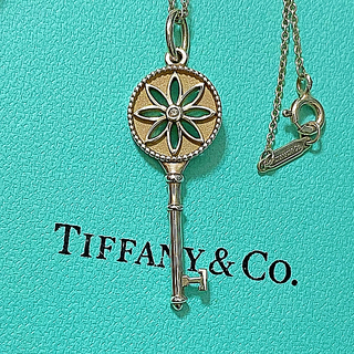Tiffany & Co. - tiffanyデイジーキー1Pダイヤネックレス
