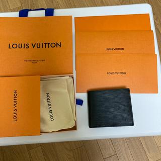 ルイヴィトン(LOUIS VUITTON)の超美品 ルイヴィトン ポルトフォイユマルコ エピノワール 二つ折り財布(折り財布)