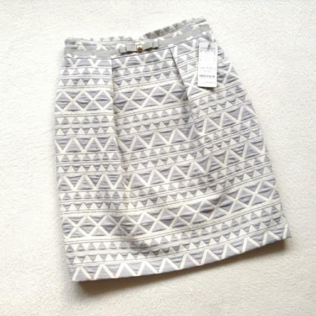 MISCH MASCH(ミッシュマッシュ)のミッシュマッシュ 柄スカート ライトブルー S レディースのスカート(ひざ丈スカート)の商品写真