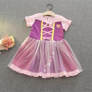 みんな大好き♡ラプンツェルワンピース♪女の子 ガールズ ドレス コスプレ