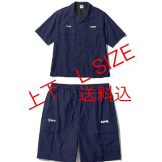 ジーユー(GU)の1MW SOPH  GU セットアップ ハーフパンツ オープンカラーシャツ(その他)