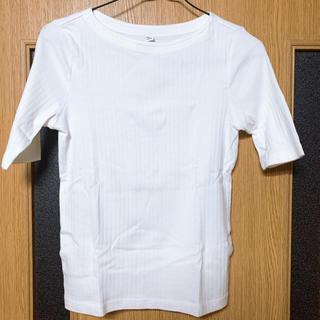 UNIQLO - ユニクロ UNIQLO Tシャツ カットソー 5分丈 ホワイト Sサイズ