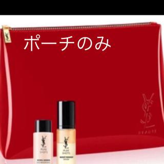 Yves Saint Laurent Beaute - イヴ・サンローラン 美売品 エナメル ポーチの 赤 レッド ノベルティ