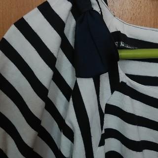 クチュールブローチ(Couture Brooch)のボーダーカットソー(カットソー(半袖/袖なし))