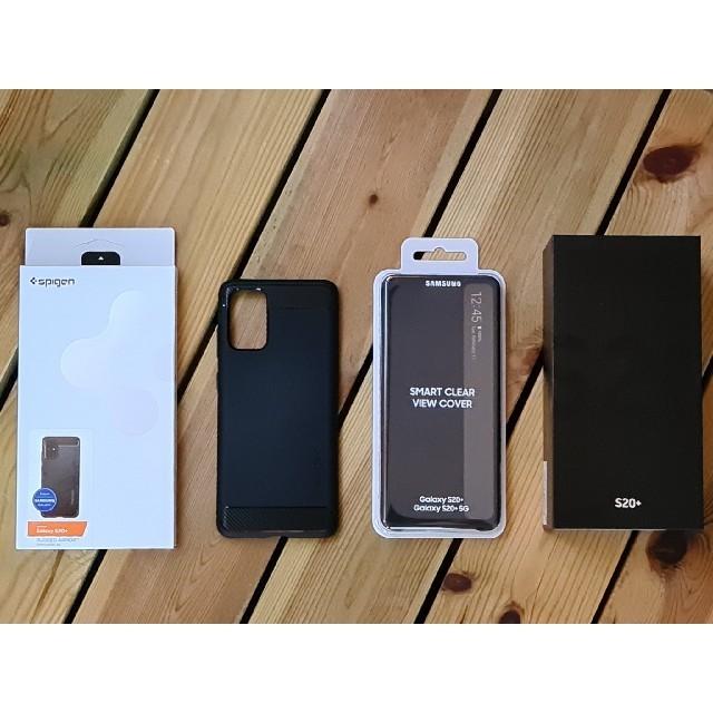 Galaxy(ギャラクシー)の【Galaxy】S20+/SMART CLEAR VIEW COVER/他2点 スマホ/家電/カメラのスマートフォン/携帯電話(スマートフォン本体)の商品写真