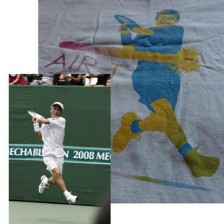 【used】岡村隆史  AIR-Tシャツ〈L〉テニス(お笑い芸人)
