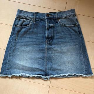 ジーユー(GU)のデニム ミニ スカート Mサイズ(ミニスカート)