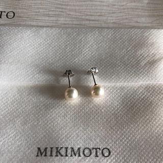 ミキモト(MIKIMOTO)のMIKIMOTO パールピアス美品 お値下げ中(ピアス)