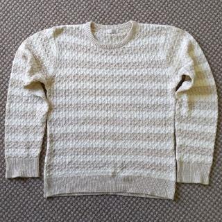 シャネル(CHANEL)の明日迄 薄手 ボーダーワッフルデザイン ニットセーター(ニット/セーター)