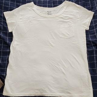 ジーユー(GU)の白Tシャツ(Tシャツ(半袖/袖なし))