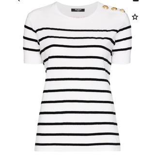 バルマン(BALMAIN)のBALMAIN ストライプTシャツ(Tシャツ(半袖/袖なし))