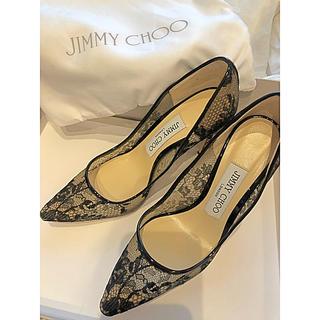 ジミーチュウ(JIMMY CHOO)のJIMMY CHOO レースパンプス 9.5cm(ハイヒール/パンプス)